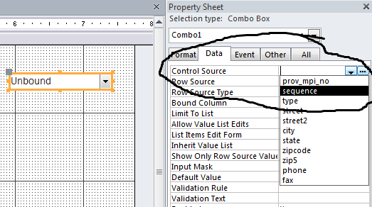 Property Sheet - Control Source