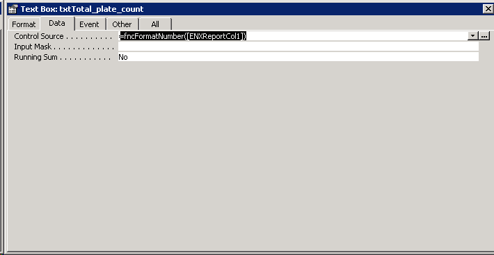Example of Access report