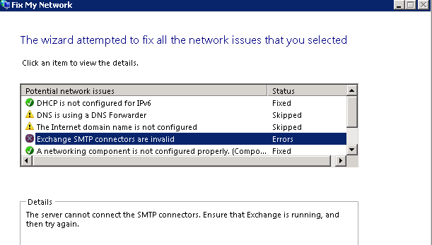 SMTP Connector Results