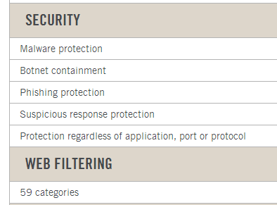 security and web filtering