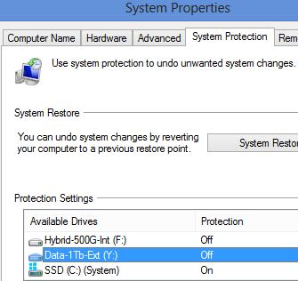 sys.protection off for Y