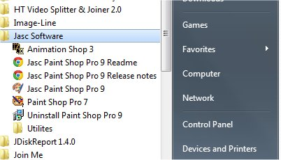 Jasc Paintshop pro 7 and 9