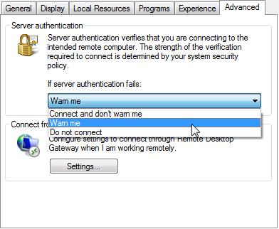 RDP Server Authentication