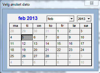 this is the frmCalendar. User can now pick the date he wants