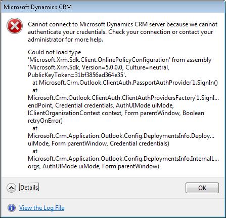 CRM Configuration Error
