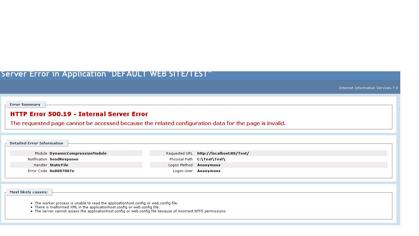 Net website hosting on IIS7
