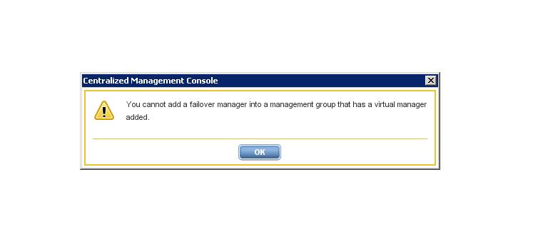FOM/Virtual Manager Error