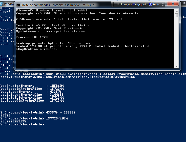 wmi Calculate the left before swap file grow