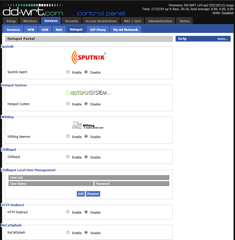 DD-WRT Services - Hotspot/WalledGarden/CaptivePortal (click for larger)