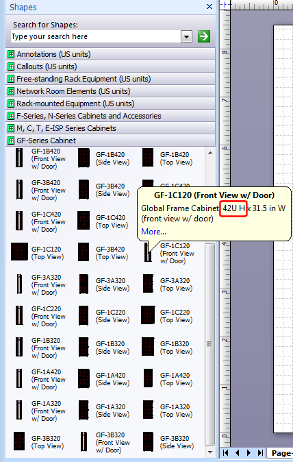 Visio rack stencils with u numbers tooltip object properties in visio click for larger gumiabroncs Choice Image