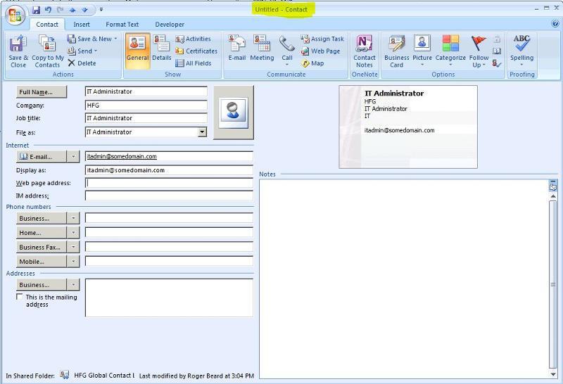 TestUserPublicFolderContact