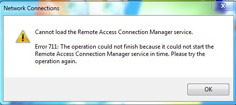 cannot start remote access connection manager windows 7 error 1068