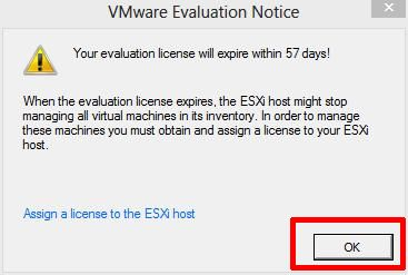 VMware Evaluation Notice