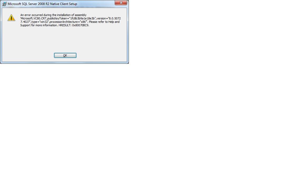 64 bit odbc driver for sql server 2008 r2