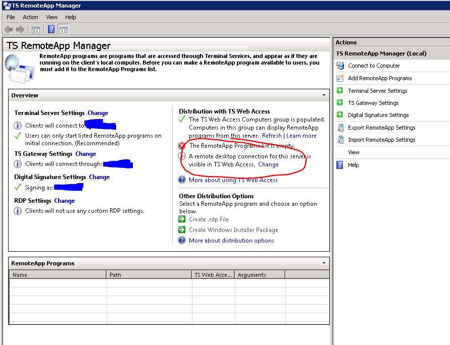 Remoteapp Web Access