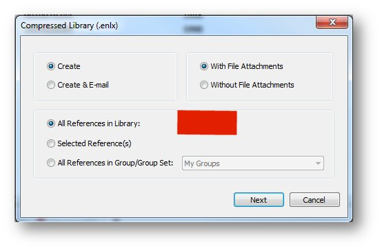 endnote_compress library