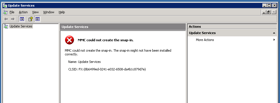 WSUS Issues