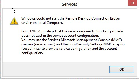 RDS connection broker HA - cannot create DB
