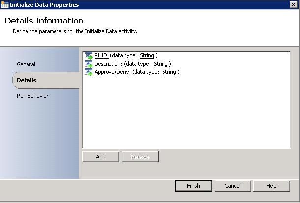 Initialize Data Activity