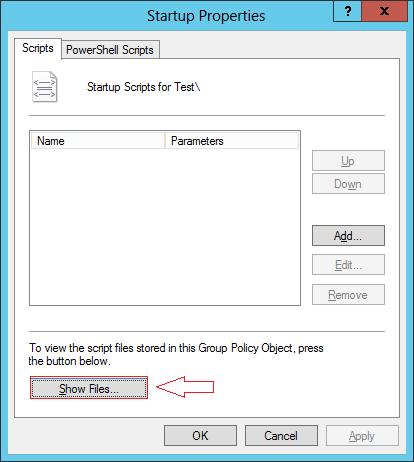 Show Files tab