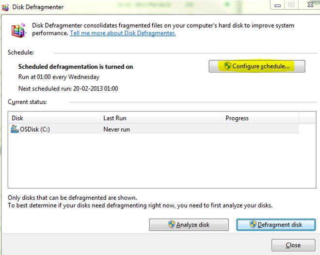 Open disk defragmenter