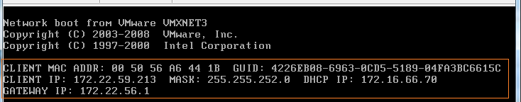 DHCP IP Address details
