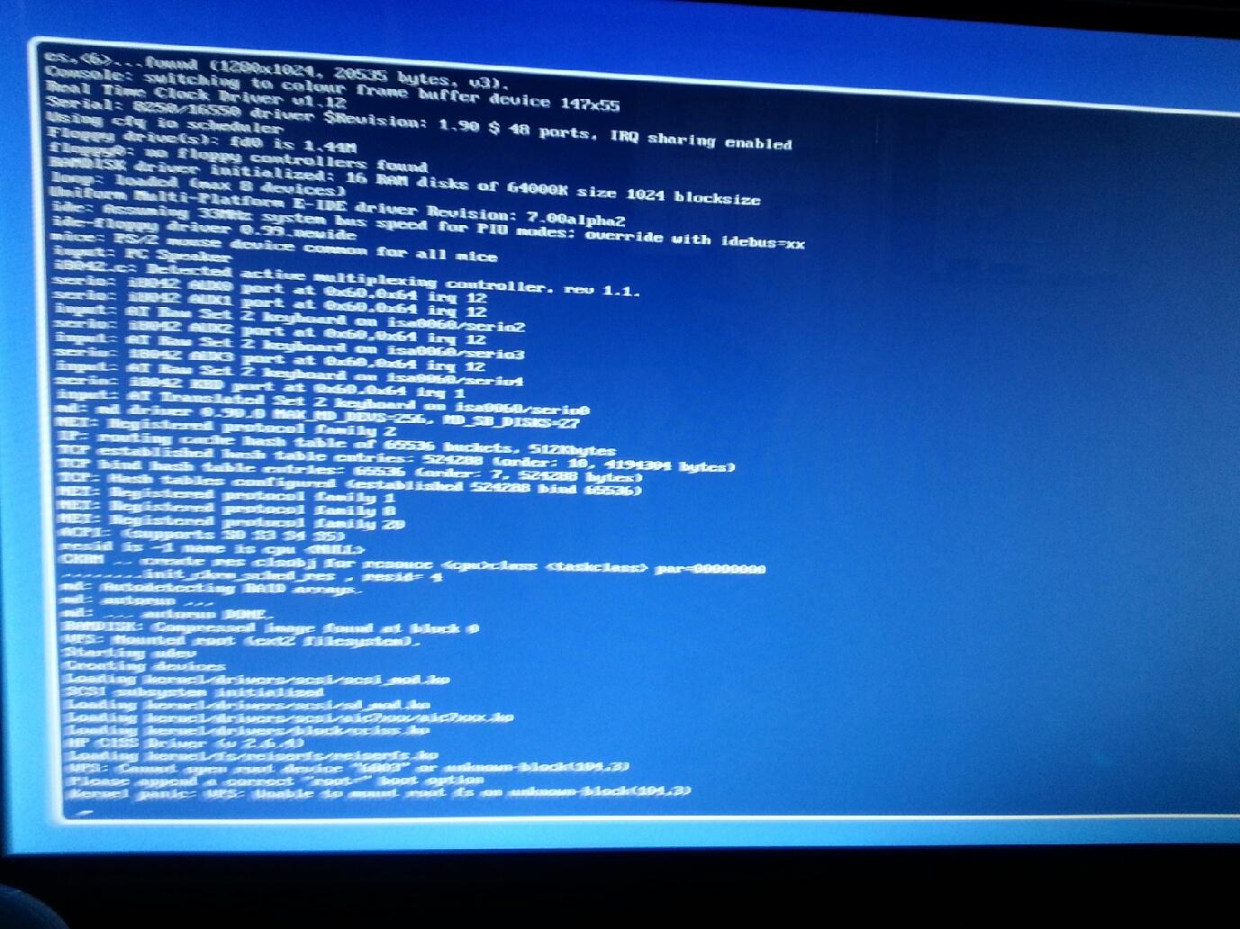 Error message after cloning Linux server