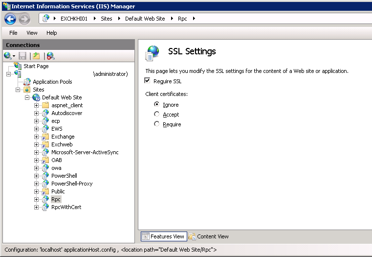 SSL Setting in RPC directory