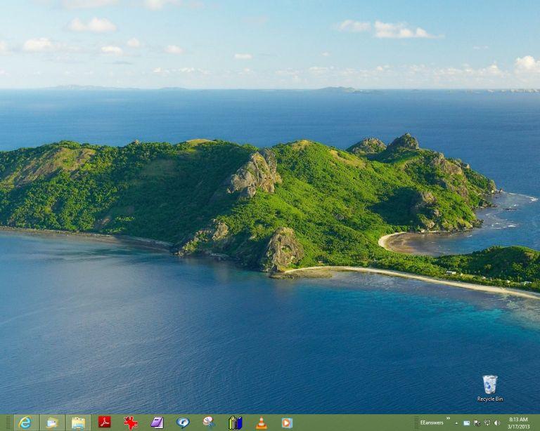 Empty Desktop screen