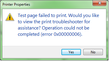 SOLUTION] Windows 7 Pro - Cannot connect to printer 0x00000006