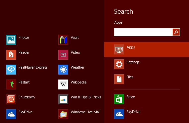 Search from Desktop
