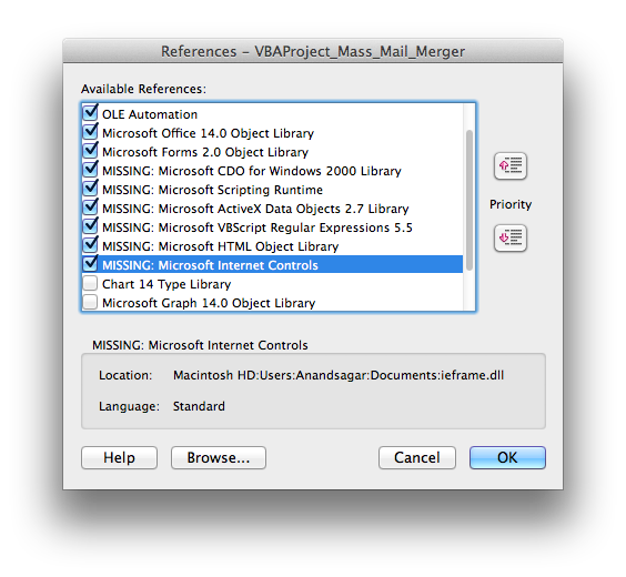 How to install Microsoft Office Excel VBA libraries For Mircosoft