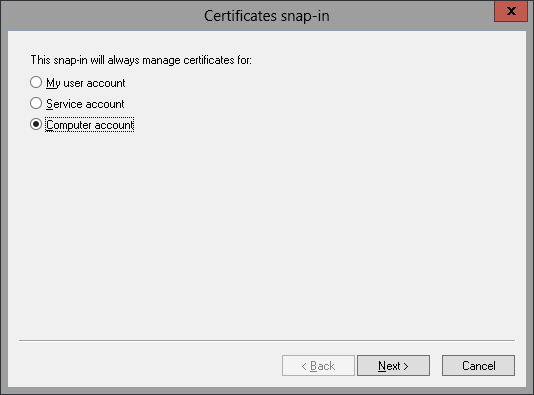 Add Certificates Snap-in 3