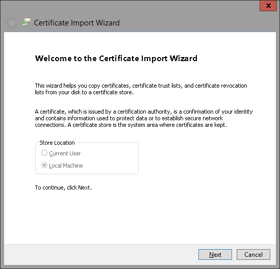 Import Certificate 3