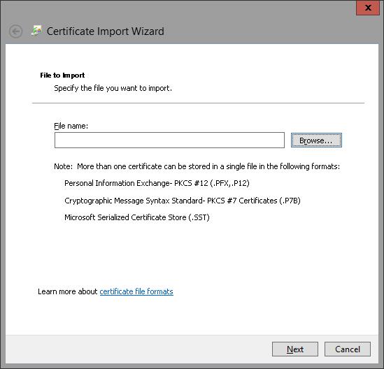 Import Certificate 4
