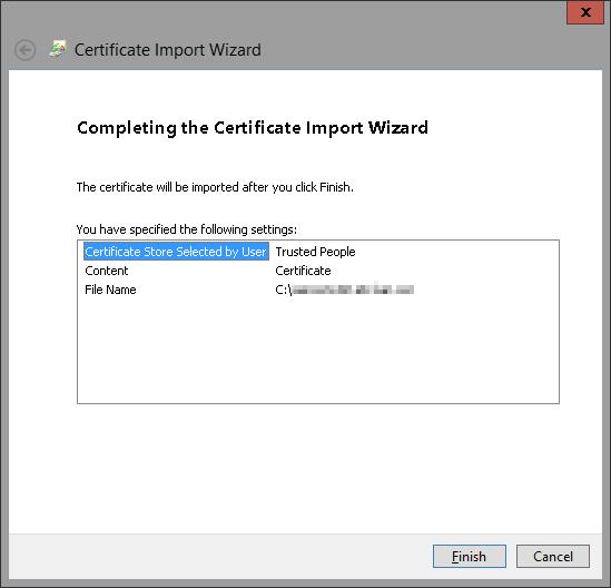 Import Certificate 8