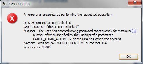 How To Reset Expired Oracle Db Password Changing password