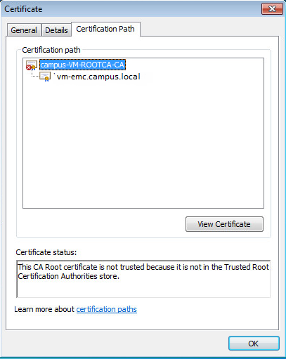 SOLUTION] The certificate is not from a trusted certifying authority ...