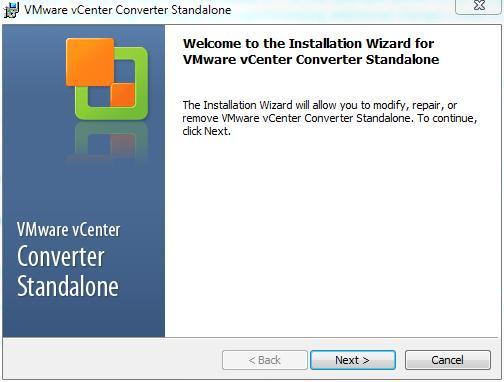 VMware vCenter Converter Standalone 5.1 - Installing