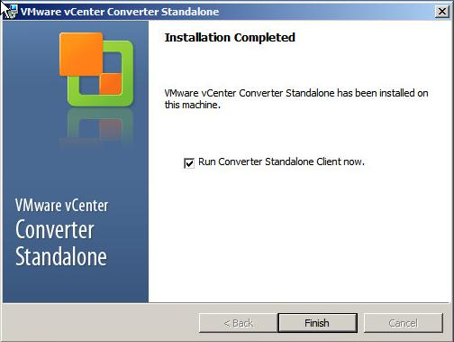 VMware vCenter Converter Standalone 5.1 - Finish