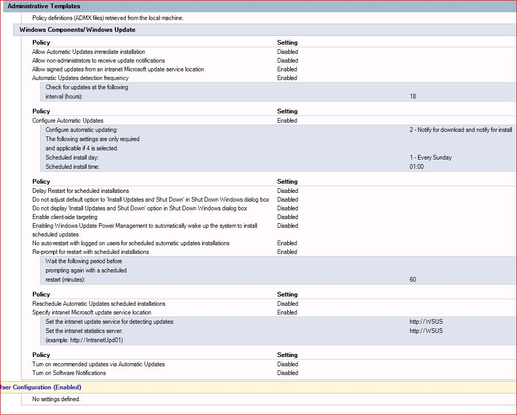 SOLUTION] WSUS GPO and Best Practice for Servers?