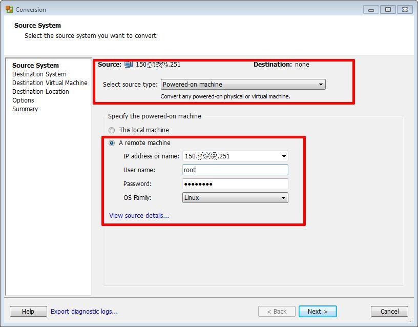 how to convert rhel 5 8 64bits p2v vmware esxi