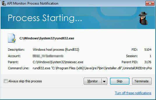 Monitor RunDll32