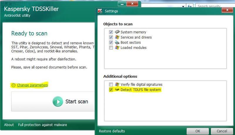 TDSSKIller TDLS option