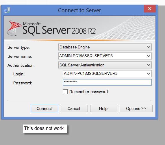 SQL Server :Login Error