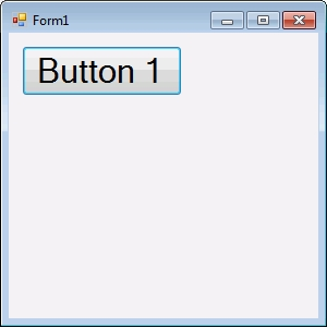 Button 1 at app start