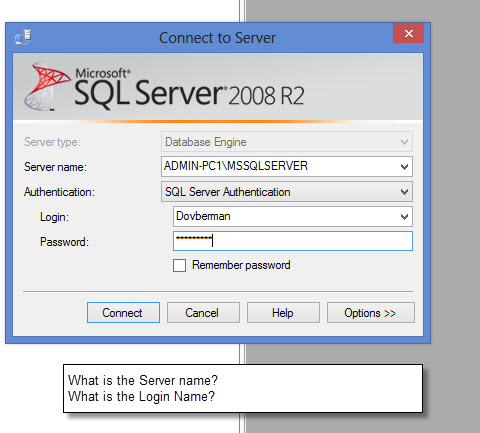 Login does not work for SQL Server Authentication