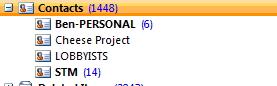 Screenshot of Contacts List