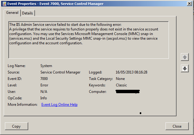 SOLUTION] IIS running as Network Service