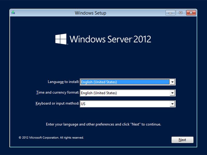 server start screen